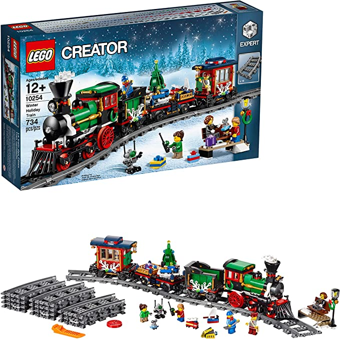 LEGO Creator Festive Christmas Tree Train Set.