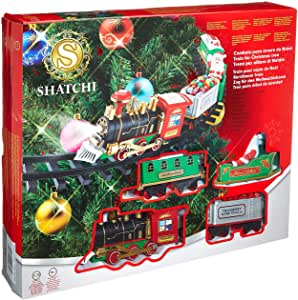 Christmas Train Set Around The Tree - SHATCHI.