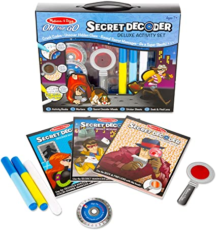 On The Go Secret Decoder Deluxe Activity Set - Melissa & Doug