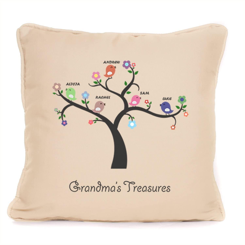 Personalised 'Grandma's Treasures' Throw Pillow Cushion