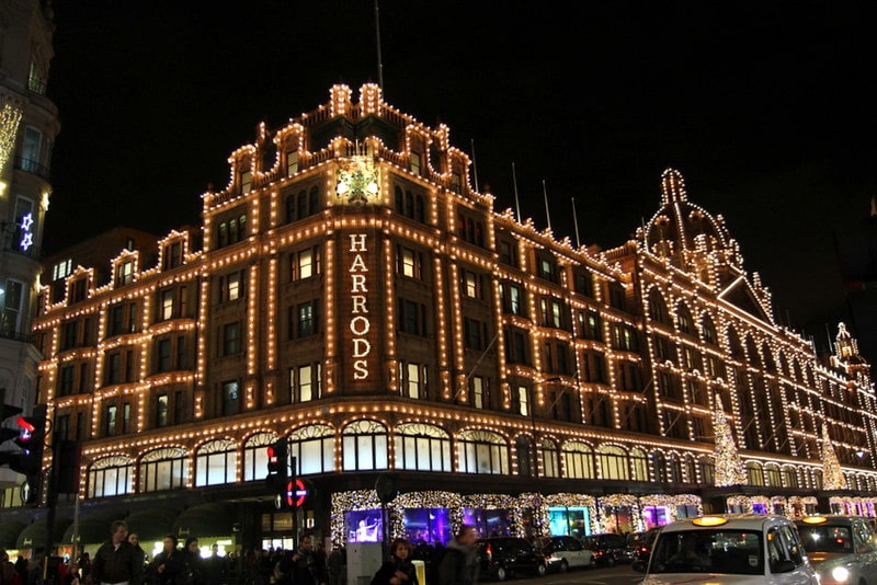 Christmas shopping for Grandma at Harrods.