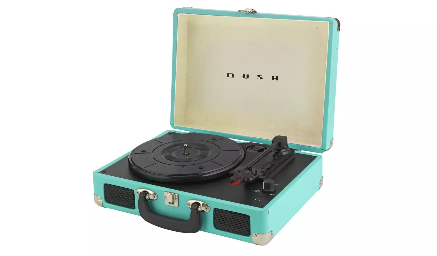 Bush Classic Retro Portable Case Record Player - Argos