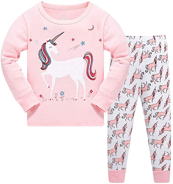 TEDD Girls Unicorn Pyjamas.