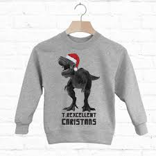 Batch 1 T Rexcellent Kids Christmas Dinosaur Jumper