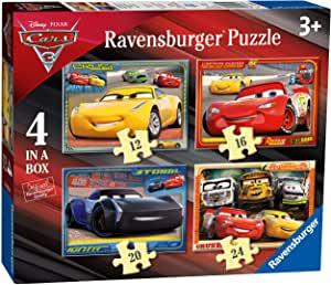 Ravensburger Disney Pixar 'Cars 3' Four In A Box Jigsaw Puzzles.