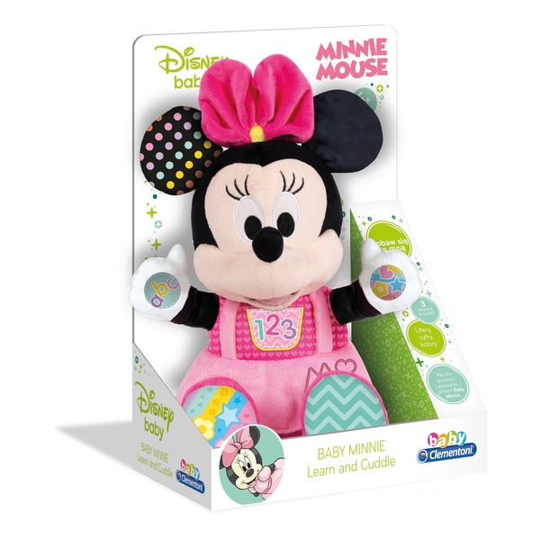 Clementoni Disney Baby Minnie Play And Learn Talking Plush Toy.