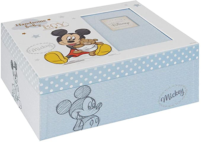Disney Baby Magical Beginnings Keepsake Mickey Mouse Baby Boy Box.