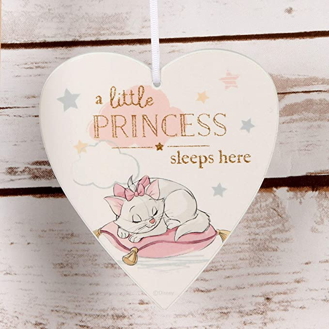 Disney Little Princess Sleeps Here Heart Plaque.