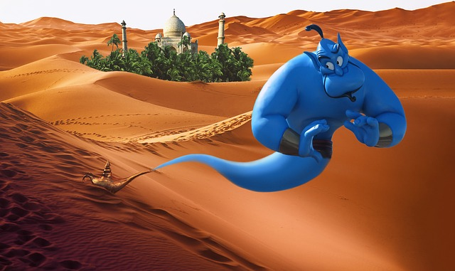 One of the most well-known genies is the genie from Aladdin.