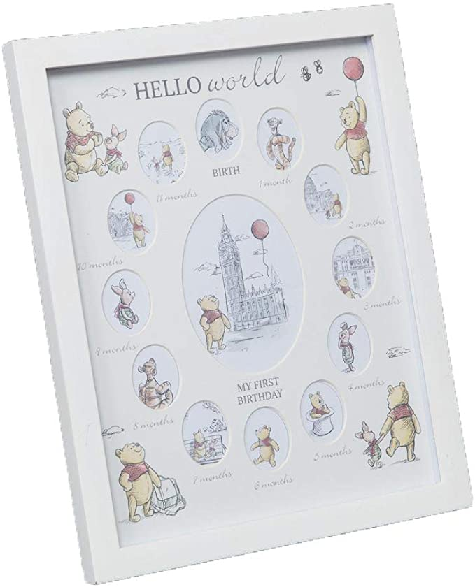 Disney Christopher Robin Winnie The Pooh My First Year Photo Frame.
