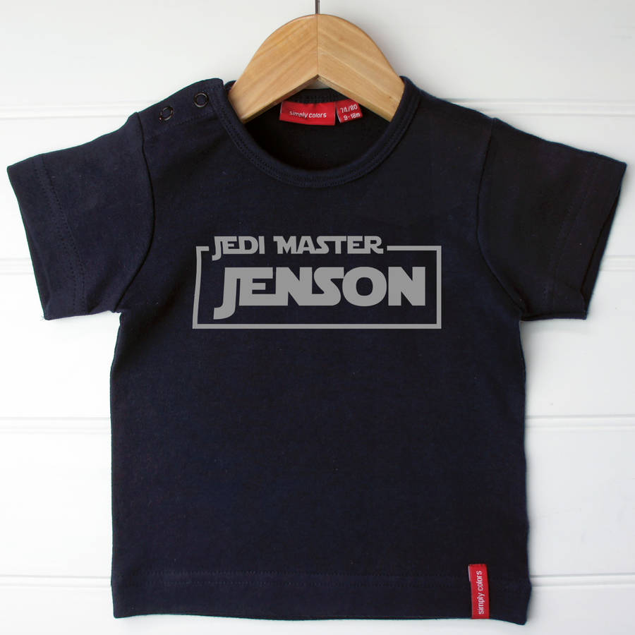 Child's Personalised Star Wars Jedi T-Shirt.