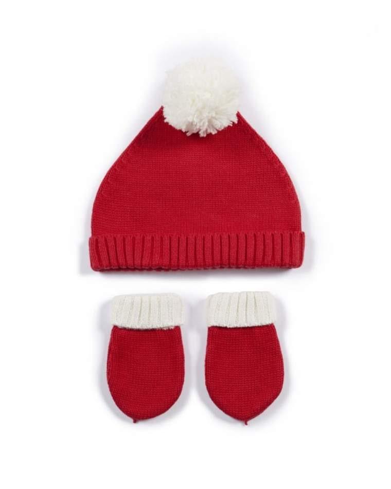Santa Hat & Mitts - 2 Piece Set - Mamas & Papas