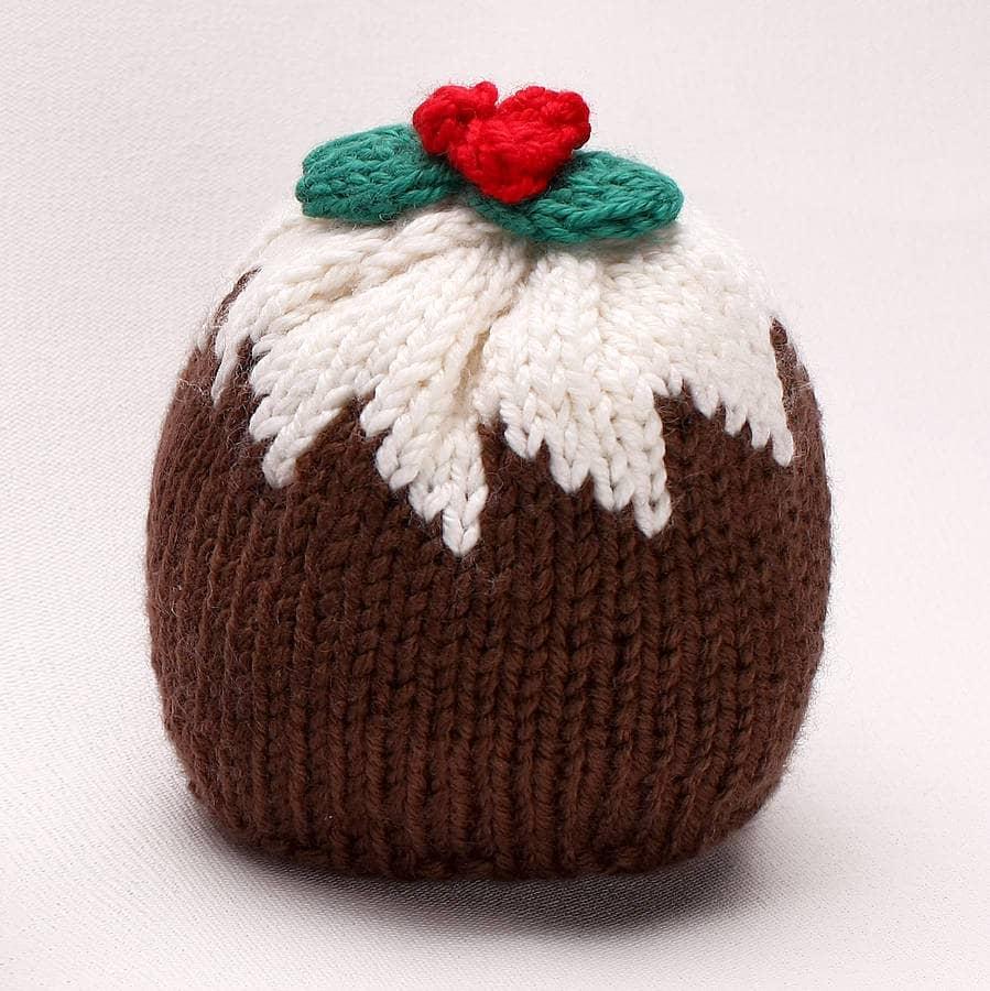 Christmas Pudding Merino Knitted Hat - AnaGibb