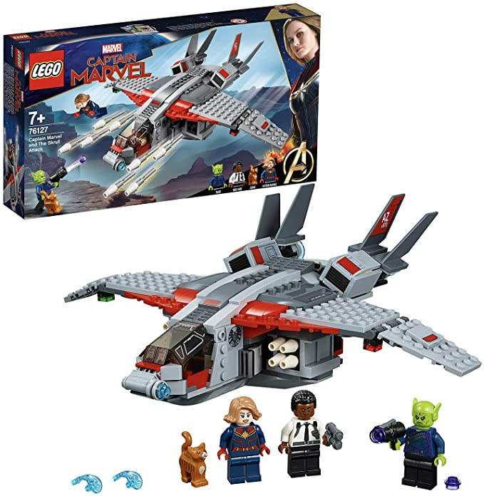 Lego Captain Marvel And The Skrull Attack Building Kit.
