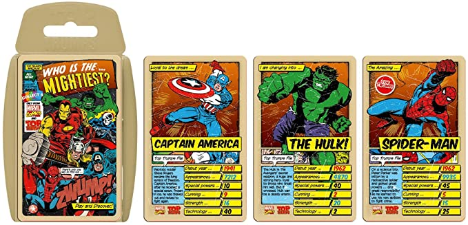 Top Trumps Marvel Comics Retro Card Game.