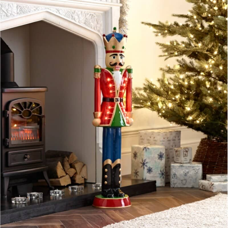 Norbert the 3ft Red Christmas Nutcracker Soldier - White Stores