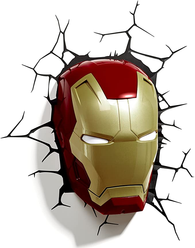 Marvel Iron Man Mask 3D Wall Light.