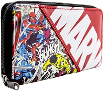 Marvel Avengers Characters Comic Style Coin & Card Clutch Purse.
