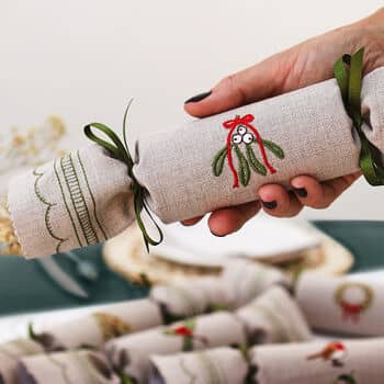 Woodland Reusable Christmas Crackers - Kate Sproston Design