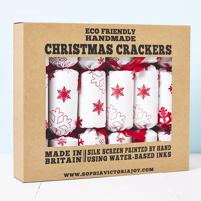 Recycled Snowflakes Christmas Crackers - Sophia Victoria Joy