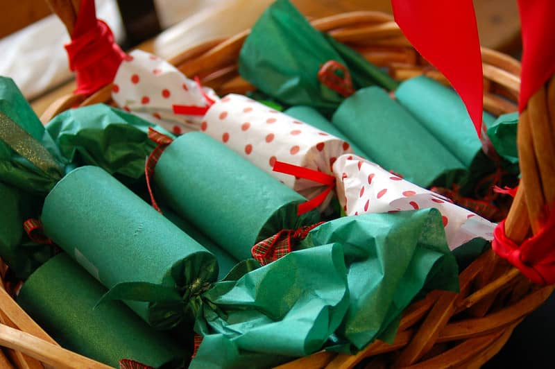 Eco Friendly Christmas Crackers for families doing their bit.