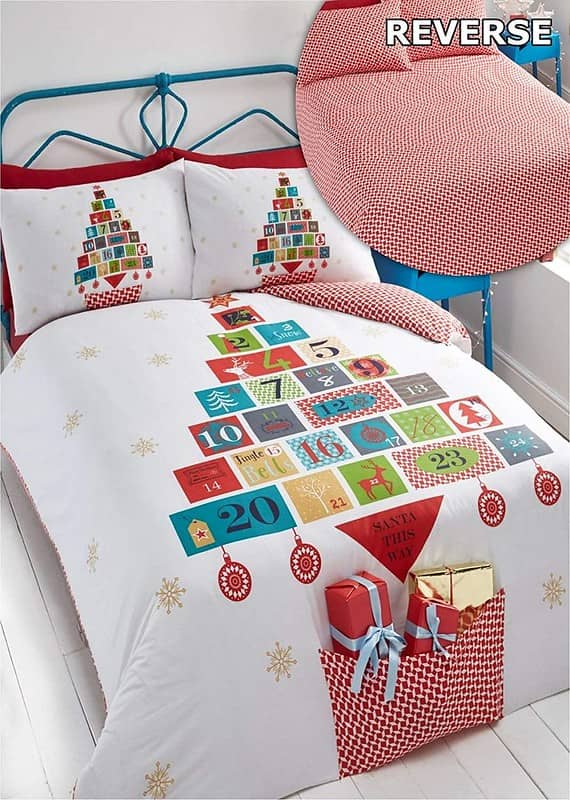 Advent Christmas Duvet Cover and Pillowcase Set
