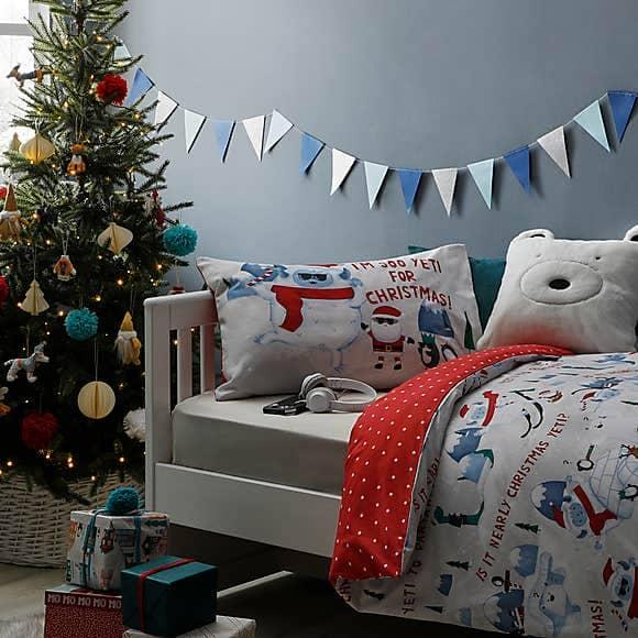 Yeti Reversible Duvet Cover and Pillowcase Set - Dunelm