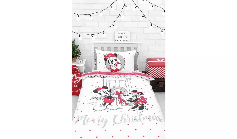 Disney Mickey and Minnie Christmas Bedding Set - Argos