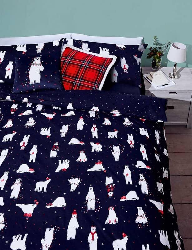 Brushed Cotton Polar Bear Bedding Set - M&S