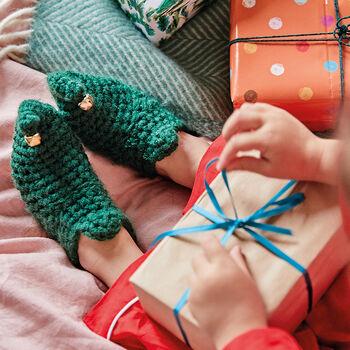 EKA Crocheted Christmas Elf Boots.