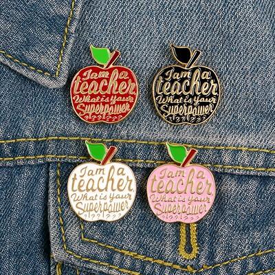 Teacher Enamel Pin - Holibanna