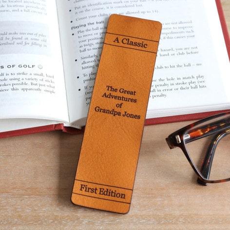 Personalised Leather 'Great Adventures' Bookmark - Lisa Angel