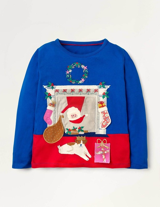 Mini Boden Festive Lift The Flap T-Shirt