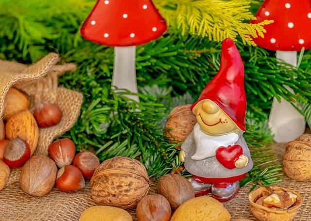 A Christmas decorative dwarf figurine.