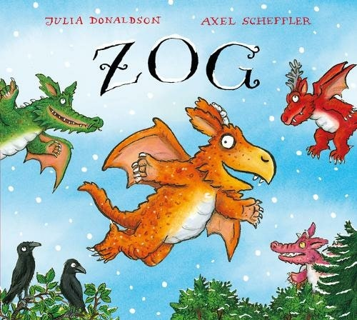 Zog Christmas By Julia Donaldson, Illustrated By Axel Scheffler.