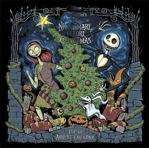 Disney Tim Burton's The Nightmare Before Christmas Pop-Up Book And Advent Calendar.