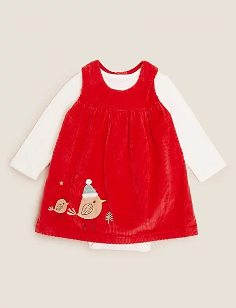 M&S Two Piece Robins Dress Outfit