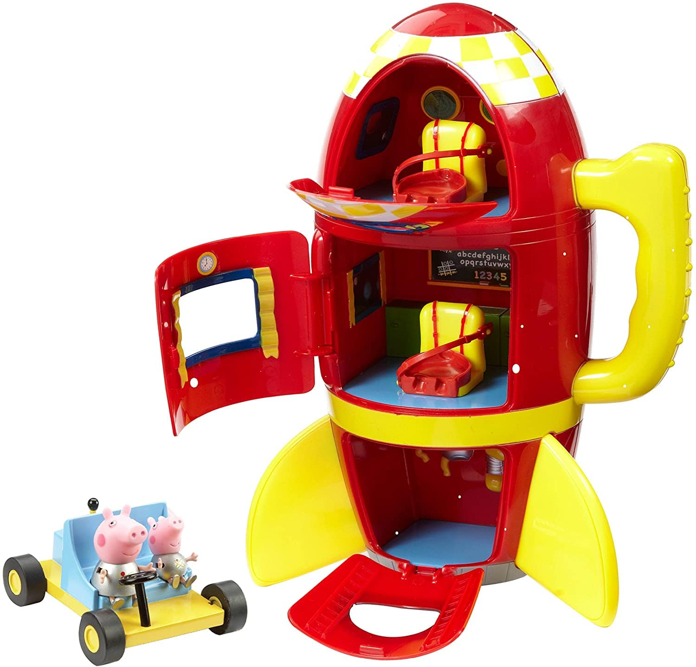 Peppa Pig Spaceship Adventure Playset With Moon Buggy.