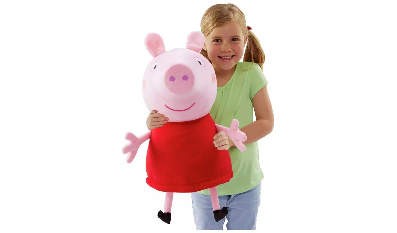 Peppa Pig Giant Talking Peppa Soft Toy.