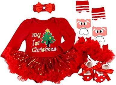 Baby Preg My First Christmas Santa Costume Dress