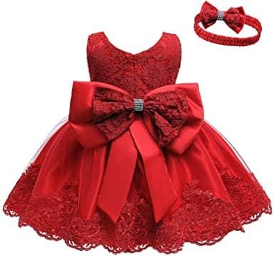 LZH Baby Girls Lace Dress