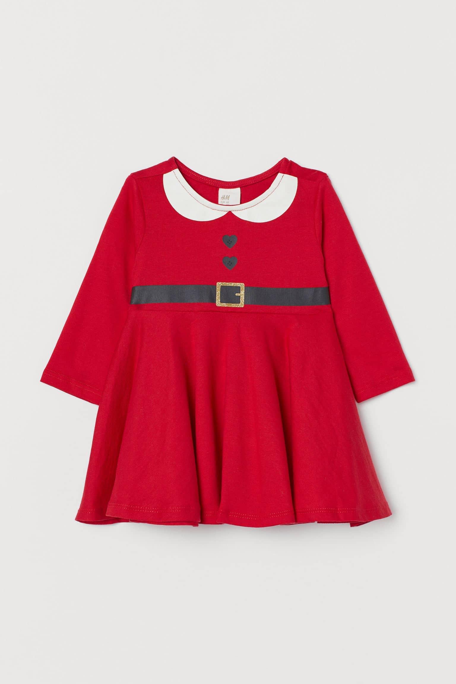 H&M Cotton Jersey Santa Dress