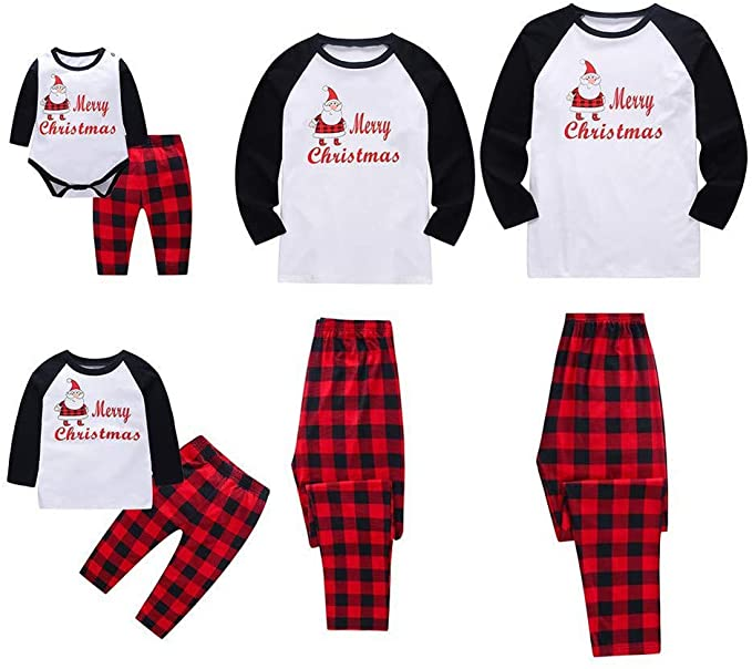 Hotsellhome Matching Family Pajamas Set Santa Claus.