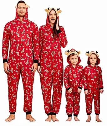 Yaffi Family Matching Christmas Reindeer Onesie.