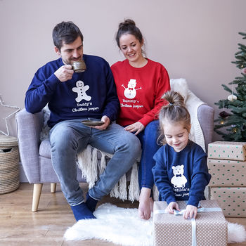 Sparks And Daughters Personalised Family Christmas Jumper Set