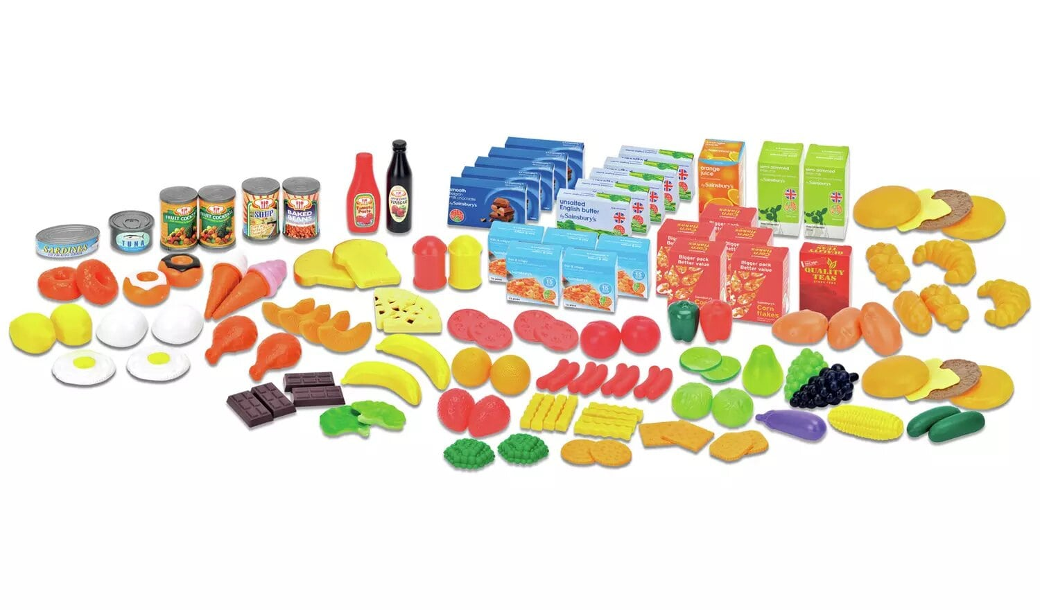 Chad Valley 120 Piece Play Food Set.