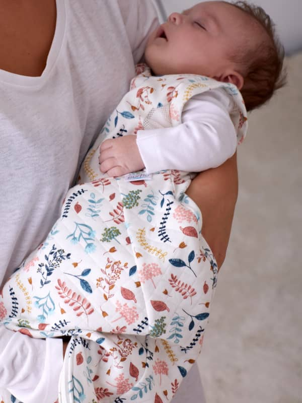 Purflo Swaddle To Sleep Bag 2.5 Tog, Botanical
