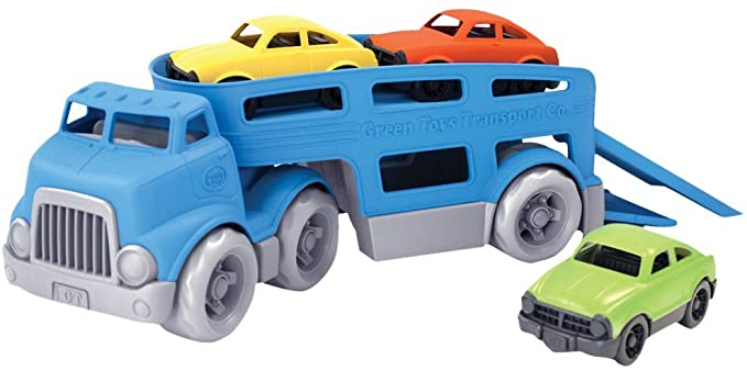 Car Carrier Vehicle Set, Green Toys.