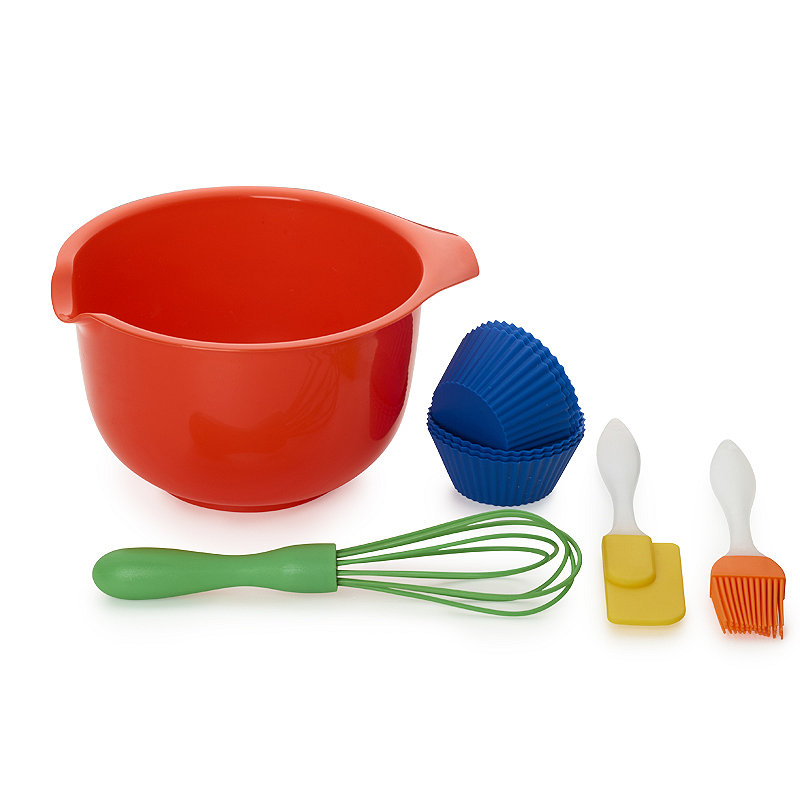 Children's 10pc Baking Gift Set with Bowl, Whisk and Spatula.