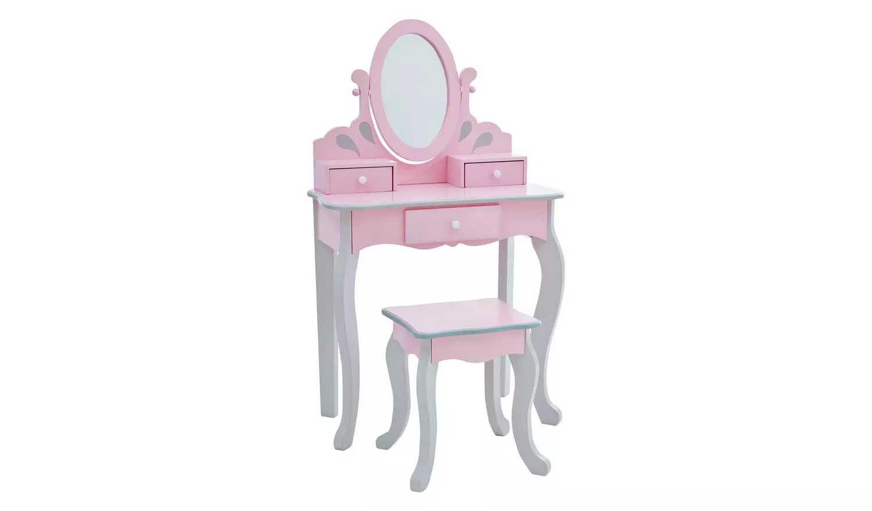 Teamson Princess Rapunzel Vanity/Stool Set